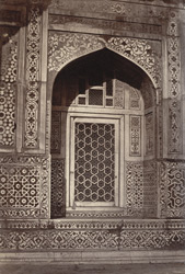 Marble fretwork door, Taj, Agra.
